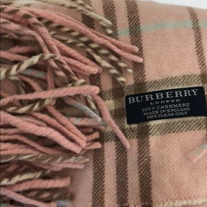Burberry pink/brown/cream scarf